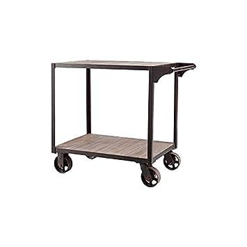 Southern Enterprises Dayne Bar Cart, Black