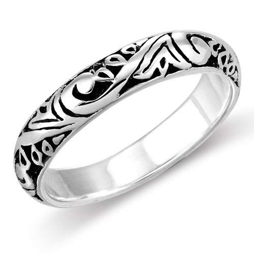 Sterling Silver Elegant Bali Style Filigree Scroll Design Everyday Band Ring - Band Scroll
