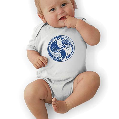 Scorpions Yin Yang-2 Baby Original Cotton Baby Suit White]()