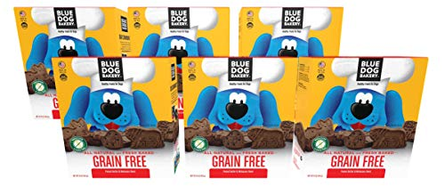 Blue Dog Bakery Natural Dog Treats, Wheat and Grain Free, Original, 16oz Pack of 6, Peanut Butter & Molasses Flavor