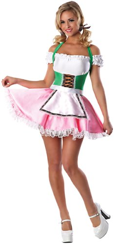 [Beer's On Me Sexy Costume, Pink/Green] (Pink Sexy Costumes)