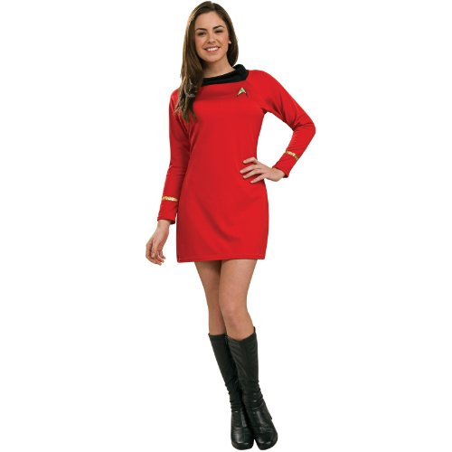 Star Trek Womens Classic Deluxe Red Dress Costume (Medium)