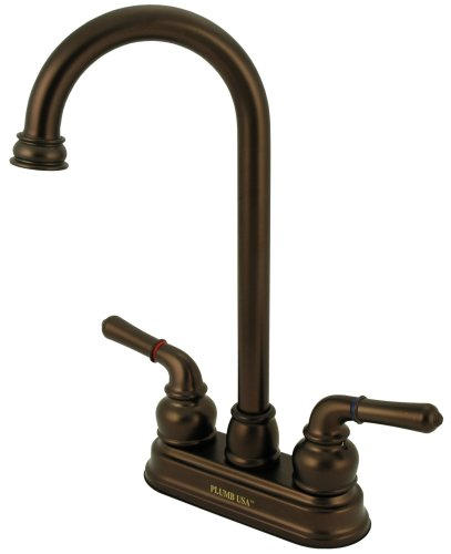 4'' Bar Sink Faucet, Oil Rubbed Bronze, Washerless - By Plumb USA
