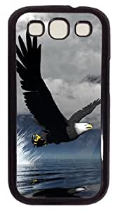 3D Eagle PC Case Cover For Samsung Galaxy S3 SIII I9300 Black