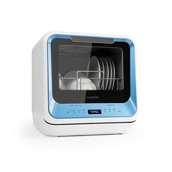 416RdnJyH L Klarstein Amazonia Mini Geschirrspüler, Spülmaschine mit Platz für 2 Maßgedecke, 6 Programme, 5 L Wasser benötigt, LED…