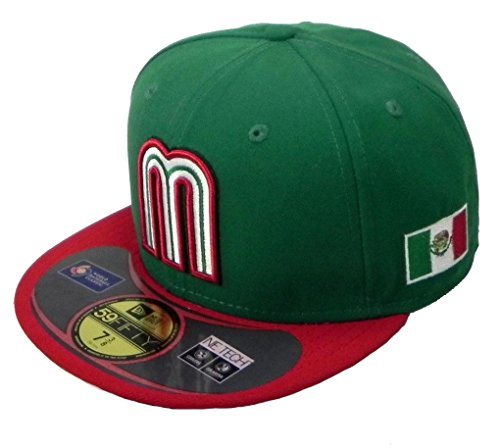 World Baseball Classic 2013 Mexico Official On-Field 5950 Fitted Cap, Green, 7-7/8