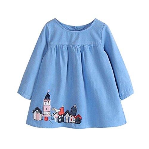 haoricu Girls Dress, Fall Autumn Toddler Kids Baby Girls Long Sleeve Corduroy Party Princess Dresses