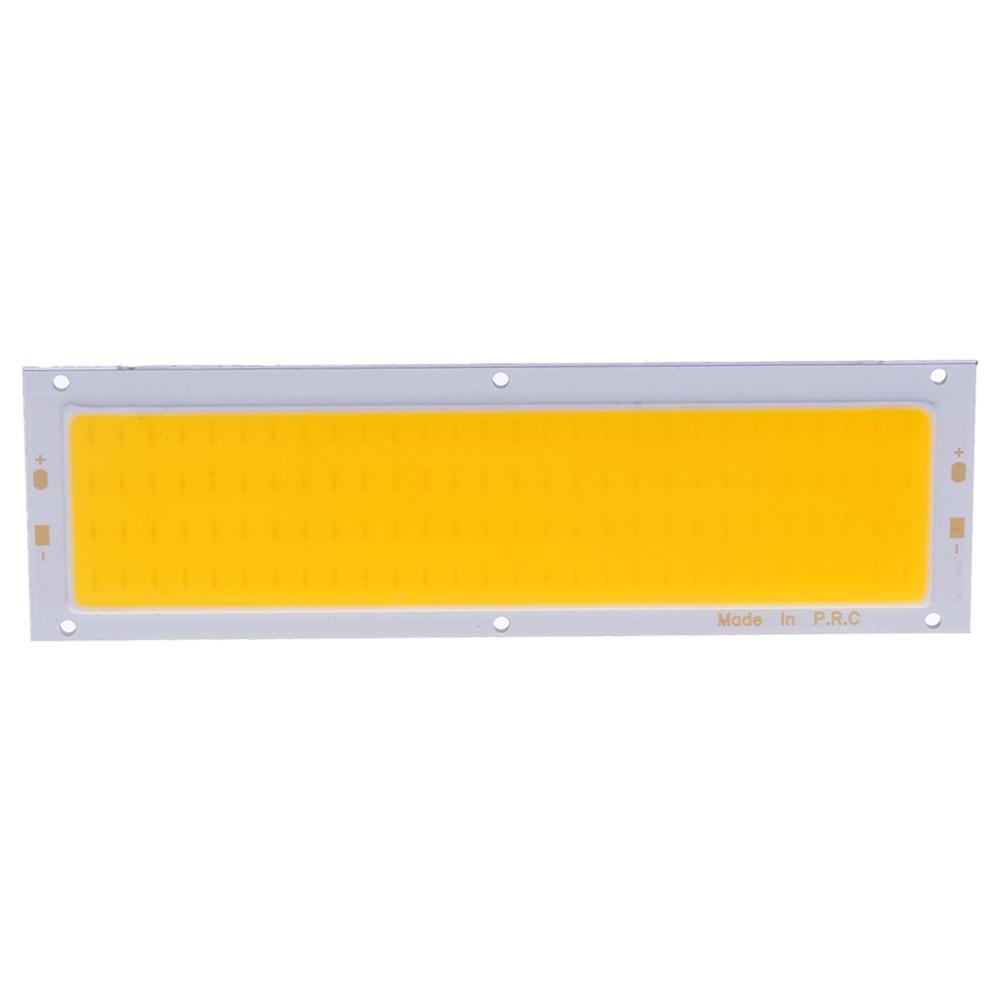 Starnearby 12V 10W COB Panel Light LED Strip Light Lamp Bulb 120X36mm White Light