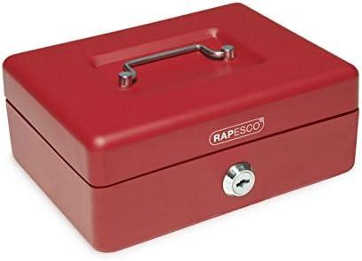 Zylinderschloss mit 2 Schl/üssel rot 20 x 16 x 9 cm Pavo Premium Geldkassette