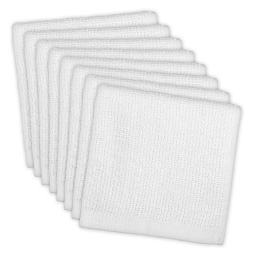 DII Cotton, Machine Washable, Monogrammable, Everyday Kitchen Basic Utility Bar Mop Dishcloth 12 x 12