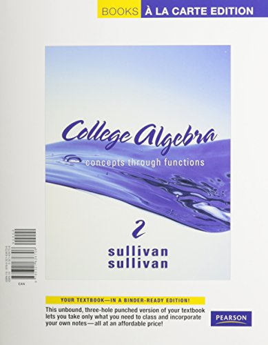 College Algebra: Concepts through Functions, A La Carte  with MML/MSL Student Access Kit (adhoc for valuepacks) (2nd Edition)