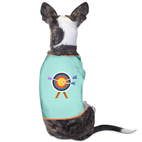 (Jazipaty Bullseye Pet Clothes Small Dog Cat Pet T-Shirts Breathable Sleeveless Puppy Costumes Summer Custom)