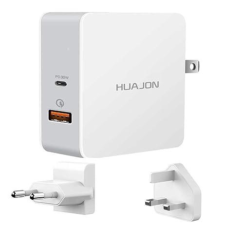 USB Type-C, cargador de pared USB 48W, USB-C con 30W Power ...