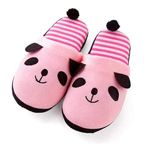 Panda Mémoire Chambre Et D'hiver Femmes Mignon Intérieur Rose Confortable Chaussons En Garder Tongs Chaud Mousse Peluche Au Chaussures Cq4qYw