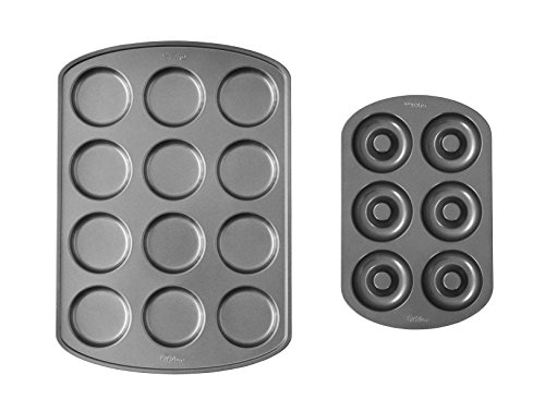 Donut Baking Pan and Muffin Top Pan Bundle - 2 Pans – Eat Healthy and Lose Weight - Bake Low-Carb Muffins, Donuts, Buns & More