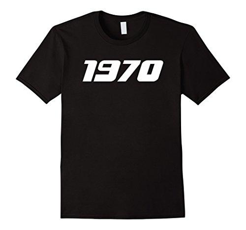 Mens Clothing 1970s - Mens 1970s Printed T-Shirt for 70's Birthdays Events Graduations Medium Black