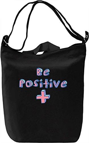 Be positive Borsa Giornaliera Canvas Canvas Day Bag| 100% Premium Cotton Canvas| DTG Printing|