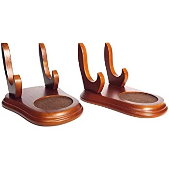 Cup And Saucer Wood Display Stands Walnut Finish Set Of 2 Stands Tea Cup Display Tea Cup Stand Wood Stand