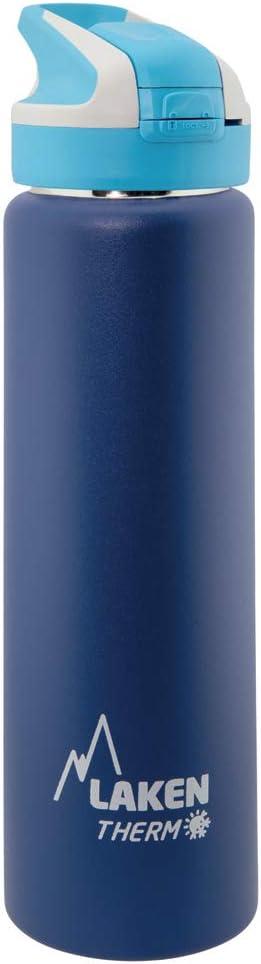 Laken Botella Térmica Reutilizable Summit de Acero Inoxidable con Tapón Automático y Cierre de Seguridad, 750ml, Azul Oscuro