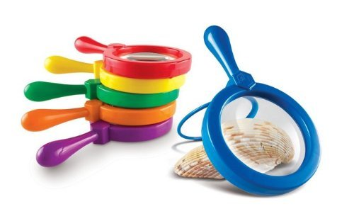Single Learning Resources Jumbo Magnifying Glass for Kids (One Magnifying Glass of Random Color Per Order)