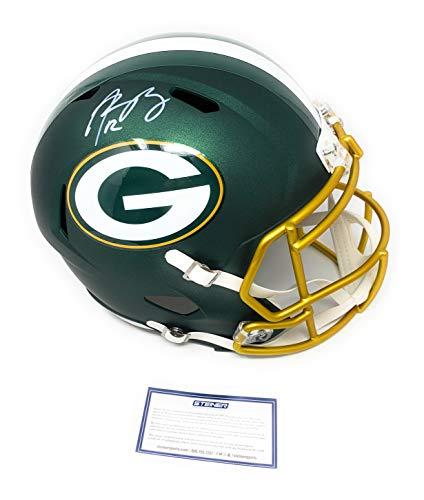 Rodgers Aaron Helmet - Aaron Rodgers Green Bay Packers Signed Autograph Full Size Blaze Speed Helmet Steiner Sports Certified