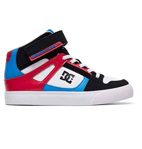 DC Shoes Girls Shoes Pure High-Top Ev - 13 - Black Black/Crazy Pink/Blue 13