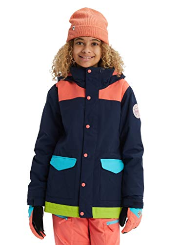 Burton Kids & Baby Kids' Elstar Parka Jacket, Dress Blue Multi, X-Small