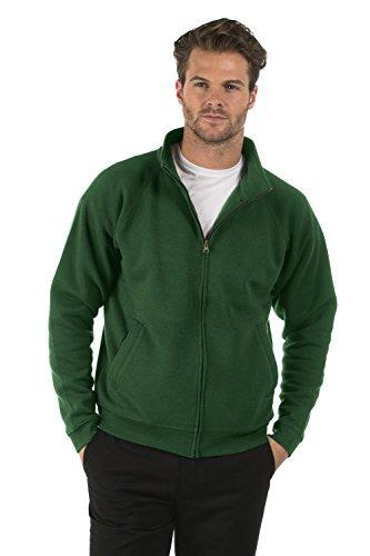 280GSM y Full Cremallera Classic Zip Bruntwood Señoras Hombres Completa Chaqueta Con Sweat Poliéster Verde Algodón Clásico Jacket Sudadera xHxqU670
