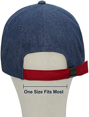 416RjCI36oL. AC Zenssia Unisex Adjustable Plain Baseball Cap Dad Hat    This adorable and classic cap is perfect cap for anywhere you go. This cap combines both colorful styles to turn your head and comfort for your all-day wear. You can use it for your usual day-to-day activities. A Must Have Item!