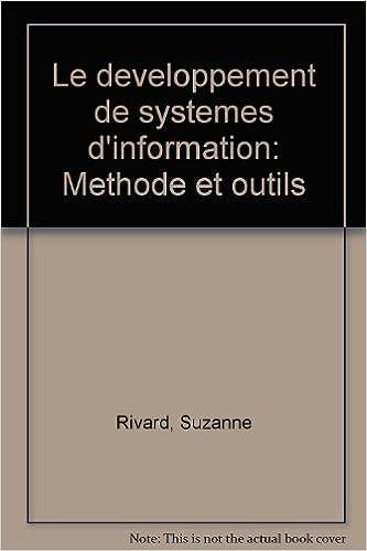 le developpement de systemes dinformation methode et outils