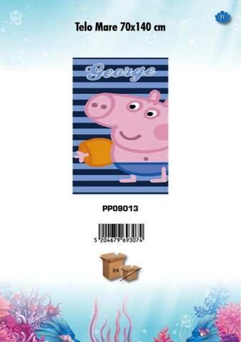 C&C Toalla Playa Peppa Pig George 70 x 140 cm piscina playa Idea regalo mct1894