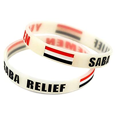 Relddd Wristbands Silicone Wristbands With Sayings Yemen Saba Relief Silicone Bracelets For Men Encouragement Set Pieces Estimated Price £25.99 -