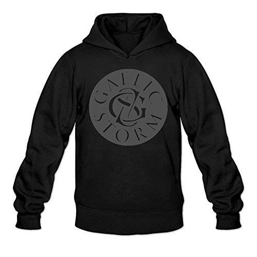 TYMLLER Men's Gaelic Storm Logo Hoodied Sweatshirt Size XXL Black
