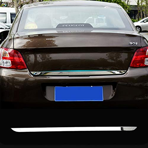 Exterior Parts Fit For Peugeot 301 2012 2015 2016 2017 Chrome Rear Trunk Tailgate Door Cover Tail Gate Trim Molding Garnish Styling 2013 2014 by Yoton