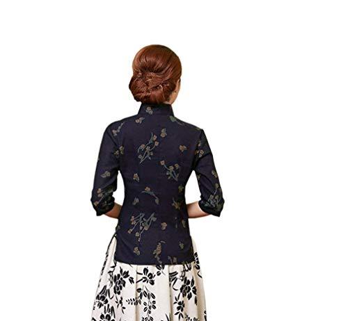 paules Manches Casual Femme Drapeau Mode Slim Elgante Fit Poches Camouflage Col sans Tshirt Tee Dbardeur Shirt Farbe2 Nues Branch Avant Rond Debardeur Impression Chic Et 4ZxBOOw