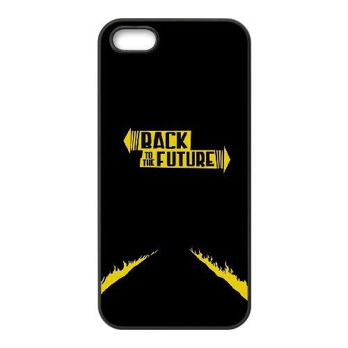 Back To The Future coque iPhone 5 5S Housse téléphone Noir de couverture de cas coque EBDOBCKCO11034