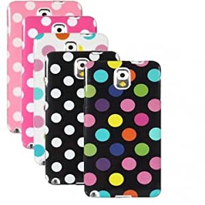 Multicolor Dots TPU Silicone Skin Case For Samsung Galaxy Note 3 N9000 --- Color:Black&white Dots