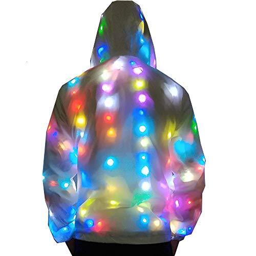 Light Up Plus Size Baseball Jacket Glowing Women Men Hooded Party Led Costume Coat (3XL(Height 180-185cm)) White]()