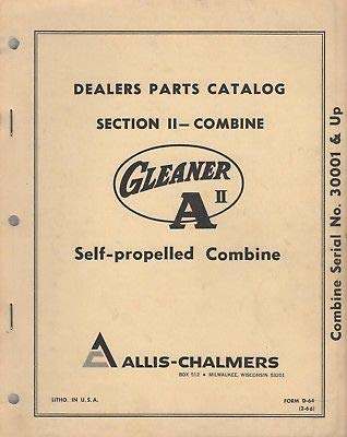 1966 ALLIS-CHALMERS SECTION II COMBINE GLEANER A II PARTS