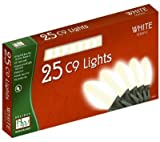 Outdoor Christmas Lights Set White Ceramic 25-Count C9 by Noma/Inliten