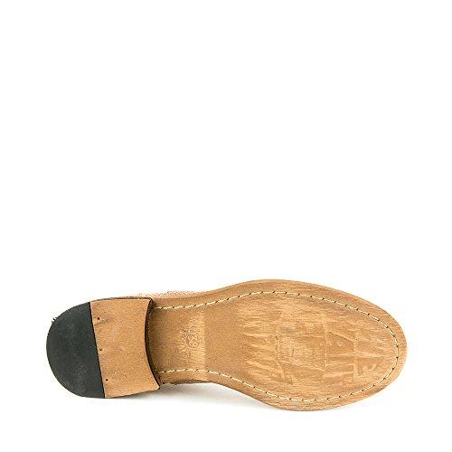 Felmini - Zapatos para Mujer - Enamorarse com Bomber 8453 - Zapatos con cordones - Cuero Genuino - Marrón claro - 0 EU Size Marrón claro