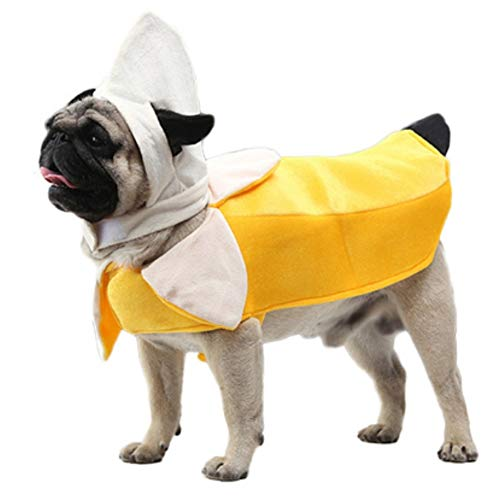 Stock Show Funny Pet Costume Banana Cosplay Suit Halloween Christmas Clothes Apparel for Cats Puppy Dogs Cute Cat Dog Clothes Accessory, XL ()