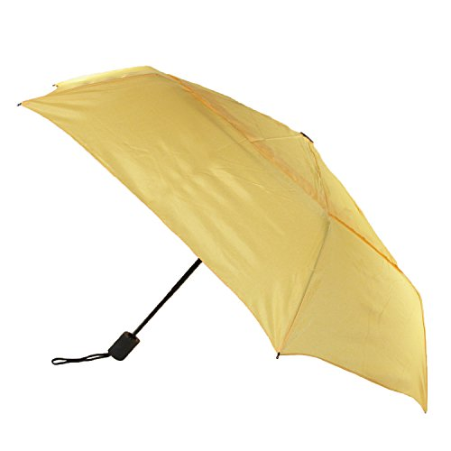 ShedRain WindPro Flatwear Vented Auto Open/Close Yellow Compact Umbrella: Sunbeam ()