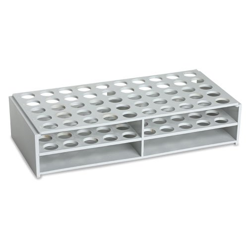 16mm Material (Karter Scientific 208X2 Plastic Test Tube Rack for 16mm Tubes, ABS material, White)