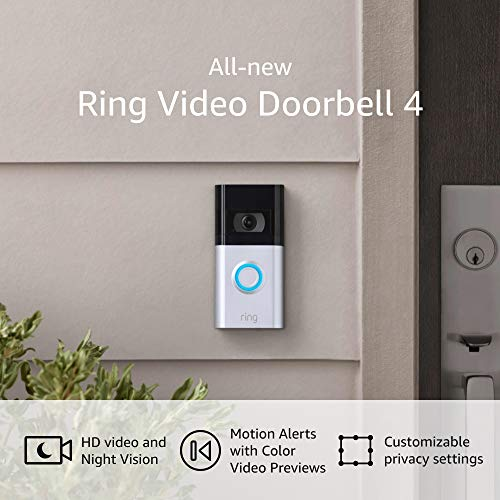 All-new Ring Video Doorbell 4 – advanced 4-second colour video previews plus simple set up, and enhanced wifi – 2021 unencumber