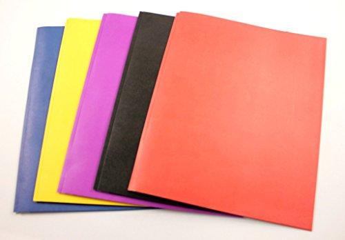Two Pocket Folders with 3 Fasteners - 9'' x 11.5'' 100 pcs sku# 532679MA by A+Homework