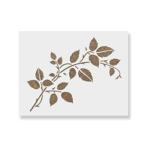 Vine Stencil Template - Reusable Stencil with Multiple Sizes - Stencil Flower Border