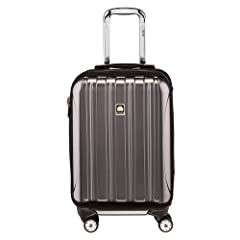 The Helium Aero Collection from Delsey Paris is extremely lightweight and durable, designed for the frequent traveller. This international carry on four wheel bag is made to fit in the overhead bins of most domestic airlines. Unique to this s...