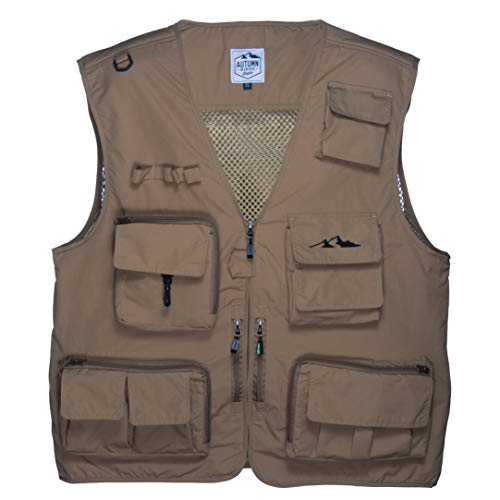 (Outdoor Fly Fishing Vest with 16 Pockets. Breathable active wear Jacket for Fishing, Photography, Sports, Hiking, Cycling and Hunting. Lightweight Mesh Fabric - great to hold all your Gear!)