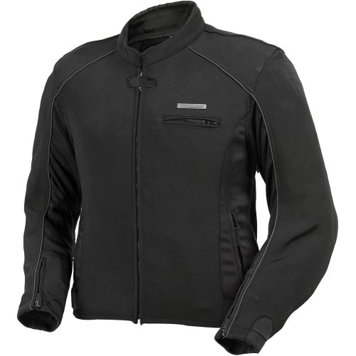 Fieldsheer Corsair 2.0 Men's Textile On-Road Racing Motorcycle Jacket - Black/Black / 2X-Large - Fieldsheer Street Bike